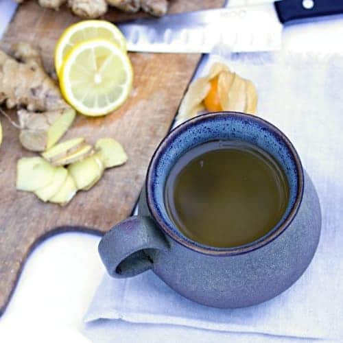 Mahá čaj se zázvorem